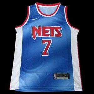 Brooklyn Nets #7 Kevin Durant Retro Blue Jersey